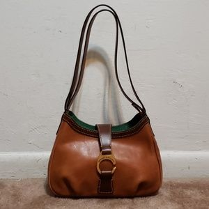 Dooney & Bourke Brown Tan Leather Handbag Hobo Bag